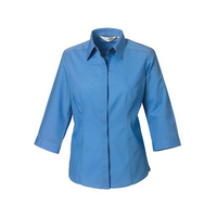 Russell Collection Popelin Bluse mit 3/4 Arm