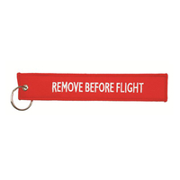"Hangtag ""Remove before flight"""