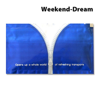 Erfrischungstuch Weekend-Dream, 70 x 120 mm, mit Flexodruck