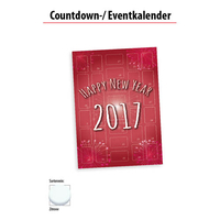 Wand Countdown-/ Eventkalender mit Traubenzucker
